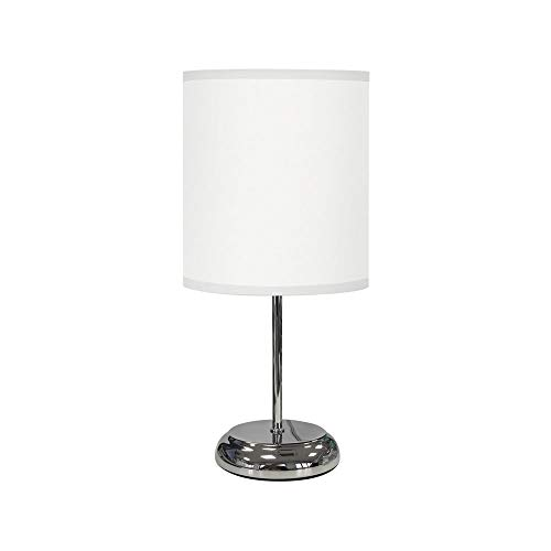 TODOLAMPARA - Lámpara de mesa de tela modelo Nicole Blanco