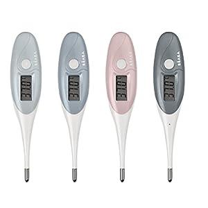BÉABA, Termometro per neonati/bambini, Misurazione rapida della temperatura, Punta morbida, Impermeabile, Allarme acustico, Facile da pulire, Thermobip, colori assortiti – colore casuale