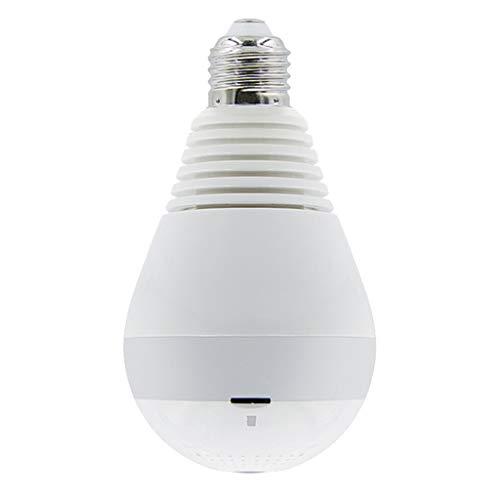 Gazechimp Cámara Oculta Panorámica De La Lámpara del Hogar De La Bombilla De La Cámara IP De WiFi De HD 1080P 360 ° - Infrarrojos + luz Blanca