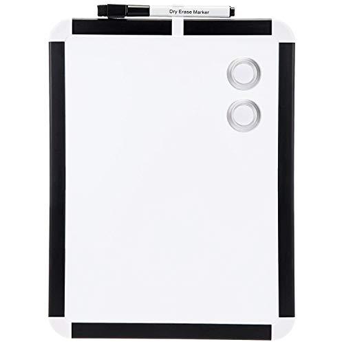 Amazon Basics Trocken abwischbares Whiteboard, magnetisch, Kunststoff-Rahmen, 22 cm x 28 cm