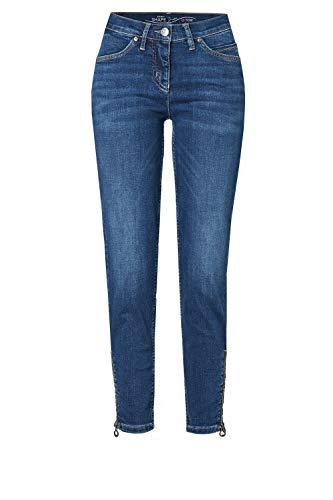 TONI Damen 7/8-Jeans »Perfect Shape« mit Reißverschlüssen an den Säumen 42 Denim