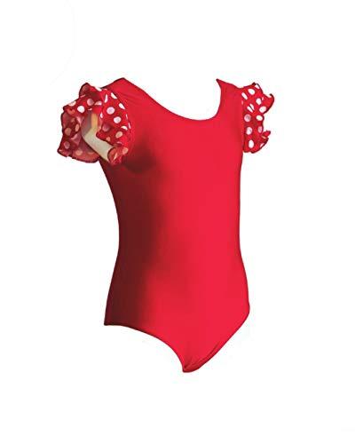 Anka Body Girl met twee ruches aan de schouder, elastische lycra-stof. Vervaardigd in Spanje.