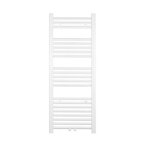 VILSTEIN Handtuchheizkörper, Horizontal, Weiß, Seitenanschluss und Mittelanschluss, 1150x450 mm