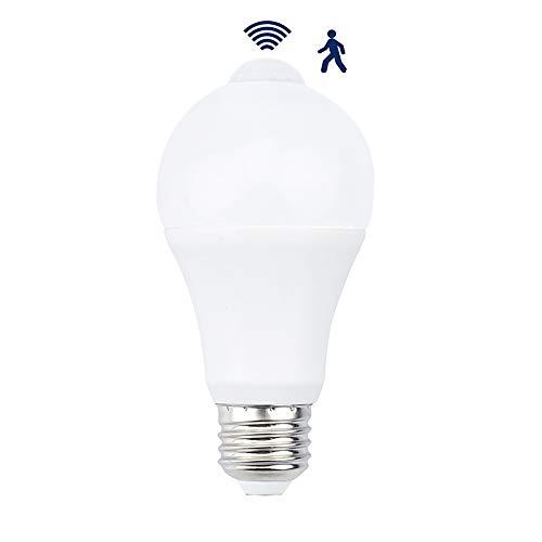 Bonlux 7W Globo Bombilla LED E27 Luz con Sensor de Movimiento 220V Interior Exterior para Escalera, Garaje, Puerta, Jardín, Patio (Luz Fría)