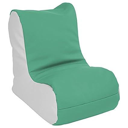 ECR4Kids Bean Bag Chair and Ottoman Set Chocolate and Sand