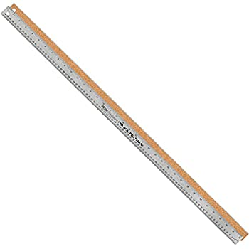 Breman Precison Metal Ruler 36 Inch - Stainless Steel Corked Backed Metal Ruler - Premium Straight Edge Metal 36 Inch Rulers - Flexible Stainless Steel Ruler - Inch and Metric