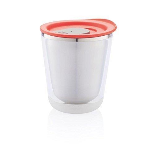 Reisebecher, rot ideal für eine Tasse 227ml Senseo, Dolce Gusto, Tassimo und allen anderen Arten Kaffee....