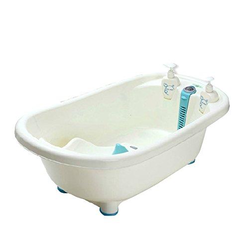Babybad, babybadje, met thermometer, kinderen kunnen in het bad zitten, pasgeboren kinderen groot bad benodigdheden verdikking, Nanayaya