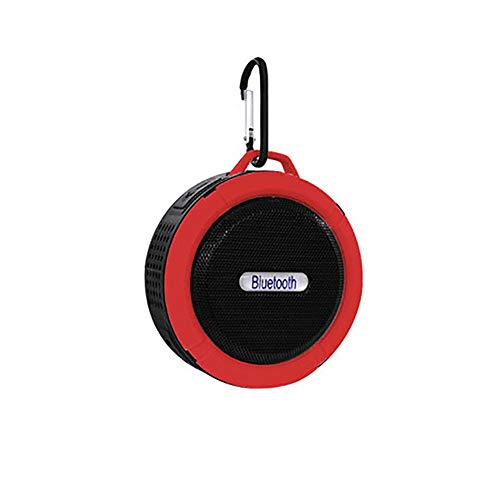Leezo - Altavoz de música para Bluetooth, portátil, Resistente al Agua, Resistente al Polvo, inalámbrico, para Exteriores, con mosquetón, Altavoz portátil con Graves más Ricos