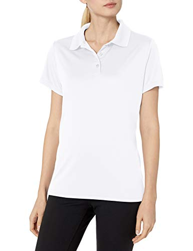 Hanes Sport Women's Cool DRI Performance Polo,White,X-Large