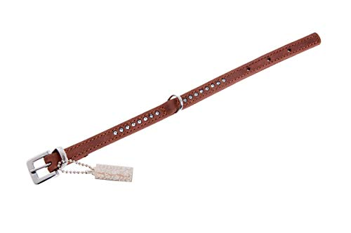 Karlie Buffalo Strass Halsband, 12 mm, 32 cm, braun