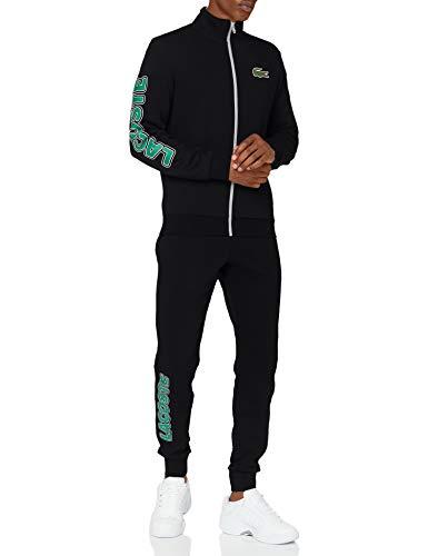 Lacoste Sport WH1502 Pantalon de survêtement, Noir/Vert-Blanc, XS Homme