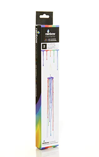 Boxer Gifts Multicolour Drip Candles, Wax, White
