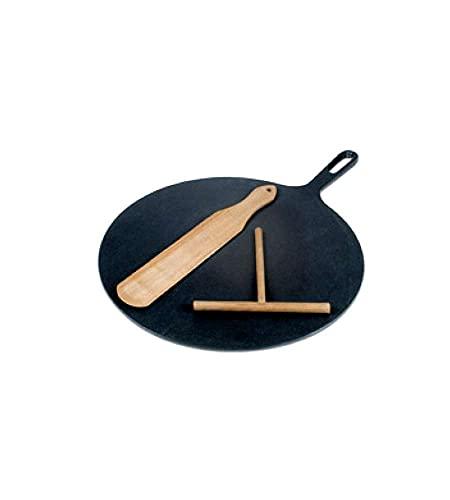 Ilsa Crepe-Pfanne aus Gusseisen mit Holz-Spatel