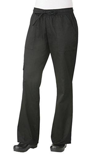 Chef Works Women's Cargo Chef Pants, Black, Medium