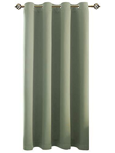 FLOWEROOM Verdunkelungsvorhang Blickdichte Vorhänge - Licht&urchlässige Vorhang mit Ösen für Schlafzimmer Geräuschreduzierung Nilgrün 175x140cm(HxB), 1 Stück