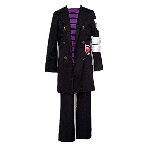 charous Anime Hitman Reborn Cosplay Kostüm Halloween Kostüm Uniform Anzüge für Damen Herren Voll-Set Gr. X-Small, Schwarz