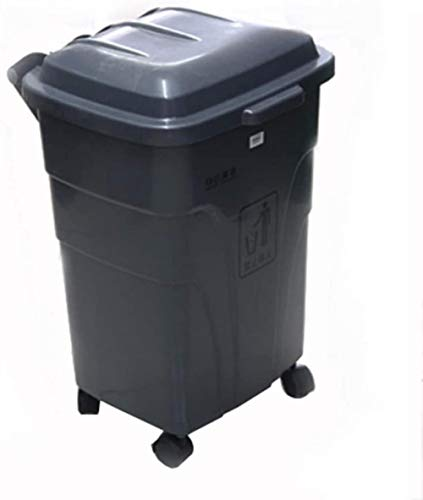 Buy JFDKDH 70 L Trash Can,Outdoor Dustbin Rubbish Bin for Patio - Resin Outdoor Trash with Lid - Use...