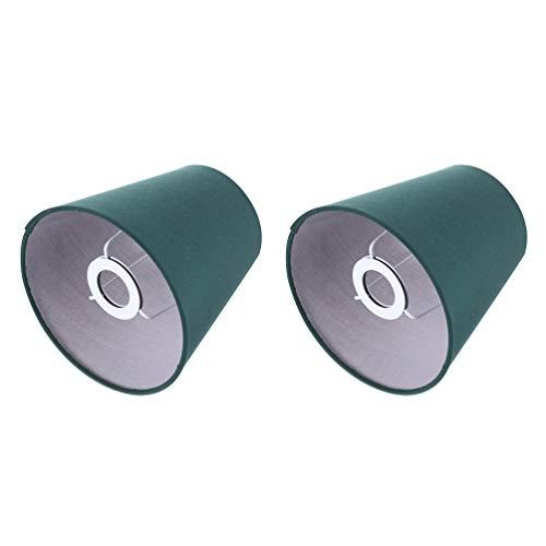OSALADI 2 Pièces Petit Abat- Jour Baril Tissu Abat- Jour pour Lampe de Table Abat- Jour en Tissu Replcement pour Plancher Lumière Vert