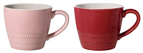 Bloomingville Tassen Hedda, rosa rot, Keramik