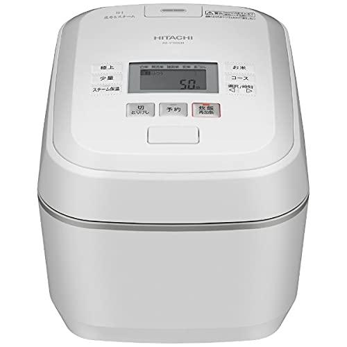 日立 圧力&スチームIH炊飯ジャー(5.5合炊き) 圧力&スチーム ふっくら御膳 フロストホワイト RZ-V100EM-W