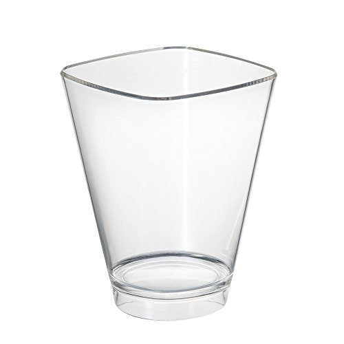 DoimoFlair Weinkühler Sektkühler London Bucket aus Kunststoff Transparent/Sektkühler/Weinkühler/Champagnerschale/Punschschale/für 1 Flaschen