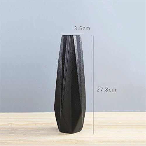 XCVB Moderne eenvoudige keramische vazen wit/zwart tabletop Origami vaas Europese bloempot huwelijksgeschenk decoratie