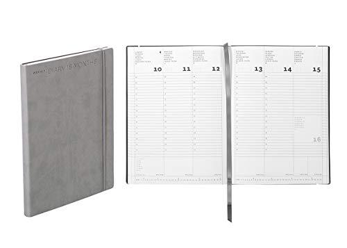 Agenda settimanale 18 mesi Flexy Diary, cm 15 X 21 colore stone