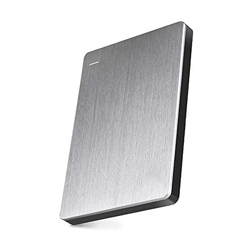 Prasacco Unidad de disco duro externo portátil de 500 GB/1T/2T, Drop Shock HDD- USB 3.0 para PC, escritorio, ordenador portátil
