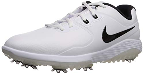NIKE Men's Vapor Pro Golf Shoe, White/Black, 10.5 M US