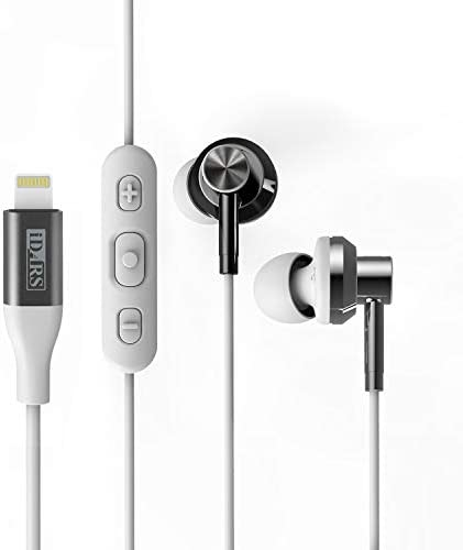 iDARS Lightning Headphone Earbud Earphone Apple MFi Certified in Ear Wired Headsets with Mic product image