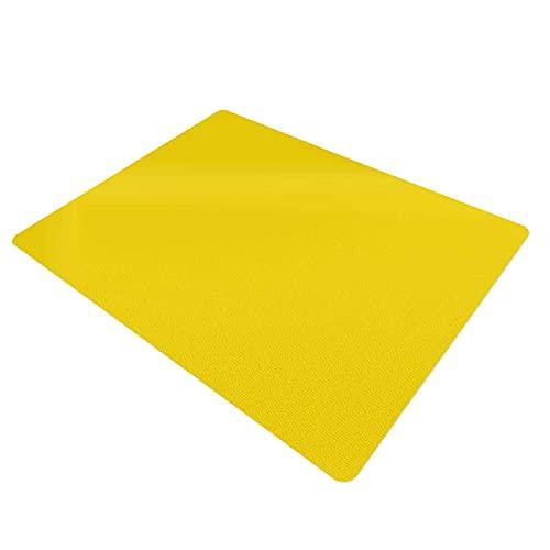 Protector de escritorio   Ideal para oficina y hogar   Revestimiento antideslizante   Base de mesa en muchos colores (amarillo, 65 x 50 cm)