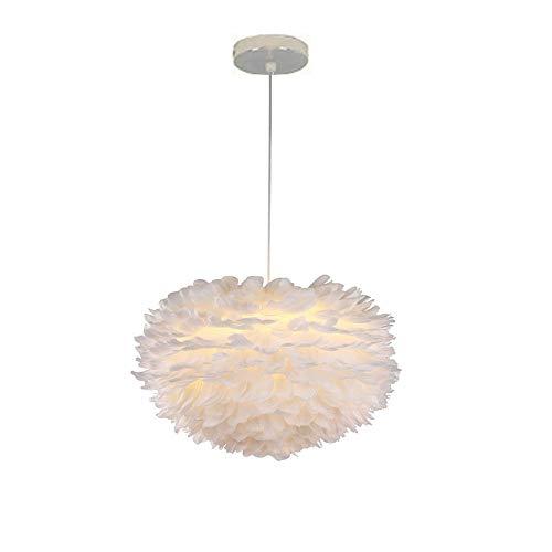 Moderno Lámpara Colgante de Plumas Romántico forma de amor Ø30cm E27 40W Iluminación, 100cm Cable Blanco Ajustable