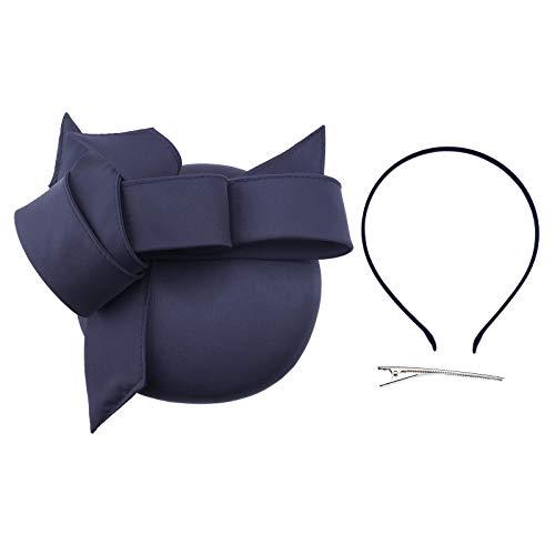 OTOTEC Marine Blume Fascinator Hut Stirnband mit Haarspange für Frauen Party Hochzeit