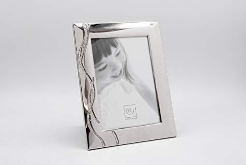 MASCAGNI - Cadre photo couleur argent - métal couleur argenté avec glitter - Taille photo 13x18cm - Rectangle
