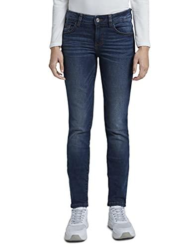 TOM TAILOR Damen 1008117 Alexa Slim Jeans, 10282-Dark Stone Wash Denim, 27W / 32L