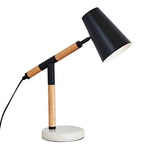 Lampe de table en acier de style européen Lampe de table en céramique Lampe de table en bois massif Chambre à coucher Lampe de table, lampe de table pour enfant
