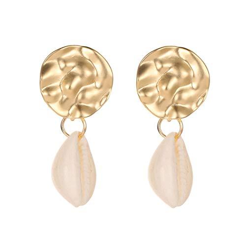 LPOQW Women Earrings Disc Shell Conch Earrings Cute Hanging Women Earrings Summer Jewelry Girls Party Gifts