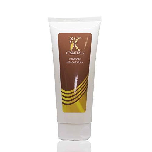 Crema Attivatore abbronzatura Stimola melanina per abbronzatura Intensa Viso Corpo Gambe con Olio di Manorle, Burro di Karite e Acido Ialuronico adatt