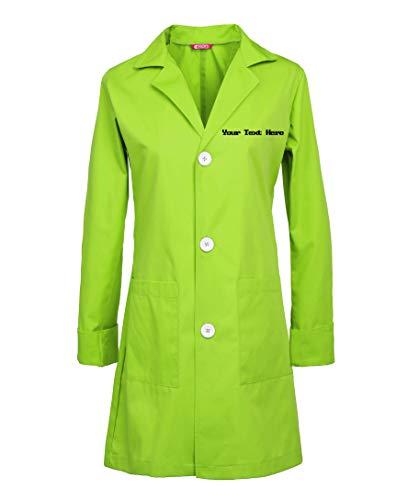 TAILOR'S Personalizado Bordado Bata de Laboratorio, Abrigo para Damas