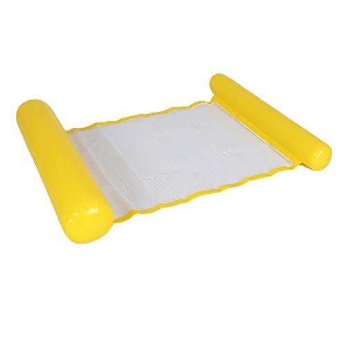 Aufblasbares Schwimmbett mit klappbarer Netzrückenlehne, Schwimmstuhl im Schwimmbad, aufblasbares tragbares klappbares Schwimmdeck-Rettungsfloß für die Sommerparty (120 × 75 cm / 47,24 '' × 29,53 '')