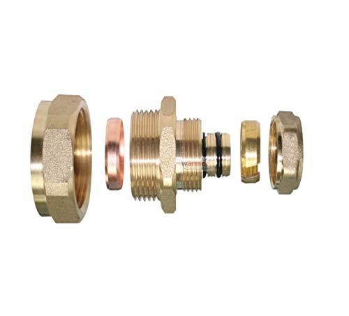 Adapter Reduzierstück, 16 mm, Absperrrohr, 22 mm, Kompression, Kupfer, Kunststoff, Wärmer-System, PSW Trade Suppliers LTD