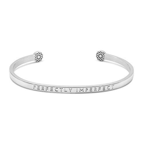 Simple Pledge - Perfectly Imperfect – Blind - Armreif in Silber mit Gravur für Damen