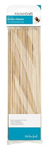 Kitchen Craft KCBAMBOO30 Bambus-Spieße, 30cm, 100er-Beutel, Beige