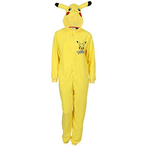 Pokemon Pikachu Ganzkörper Schlafanzug, Schlafoverall, Onesie, Einteiler - M/L