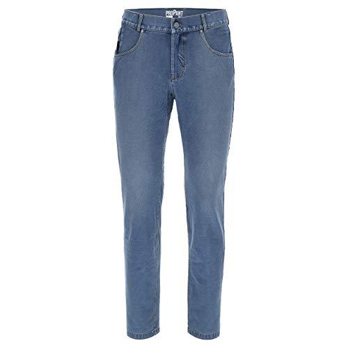 FREDDY Pantalone Lungo con Supporto Intimo Doppio Cambio - Jeans Chiaro-Cuciture Gialle - Small