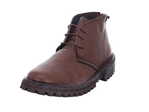 moma scarpe MOMA Scarpe Stivaletti Uomo 2BW104-BT Bufalo Cuoio Pelle Marrone