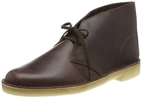 Clarks Desert Boots, Polacchine Uomo, Marrone Chestnut Leather Chestnut Leather, 43 EU