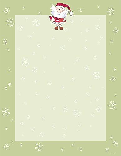 素晴らしい紙です。 21.59cm x 27.94cm インプリント可能文房具、メリークリスマスサンタ(2015053)