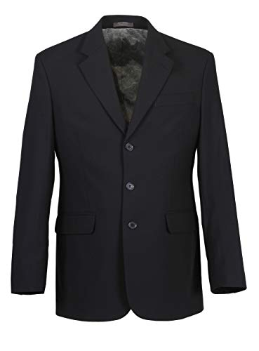 Herren Sakko DREI-Knopf klassisch Reverskragen Blazer Jackett Anzug Regular Fit bequem, Größe 46, dunkelblau